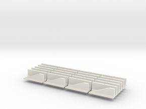 HO scale Jersey Barrier  20 each 10 ft in White Natural Versatile Plastic