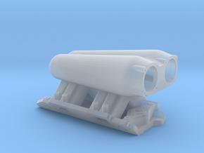 Twin Ram EFI Intake in Smooth Fine Detail Plastic