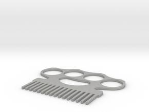 Brass Knuckle Comb/Beard Comb (inward teeth) in Aluminum