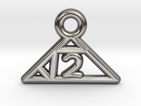 Square Root of 2 Charm in Polished Silver