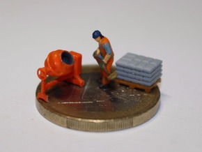N Scale Concrete Mixer Set in Smooth Fine Detail Plastic