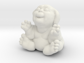 Fubby Baby One Inch Tall in White Natural Versatile Plastic