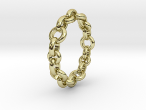 Signature Chain Ring in 18k Gold Plated Brass: 5 / 49