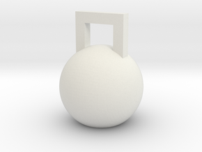 Mini Kettleball in White Natural Versatile Plastic