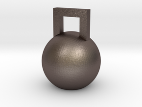 Mini Kettleball in Polished Bronzed Silver Steel