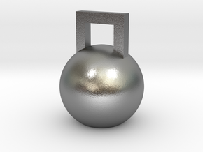 Mini Kettleball in Natural Silver