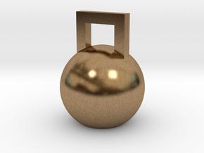 Mini Kettleball in Natural Brass