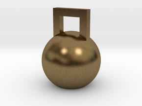 Mini Kettleball in Natural Bronze