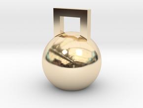 Mini Kettleball in 14k Gold Plated Brass