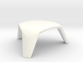 scale modelled coffee table 2 (1:22.5) in White Processed Versatile Plastic