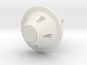 Robot Paperweight in White Natural Versatile Plastic: Small