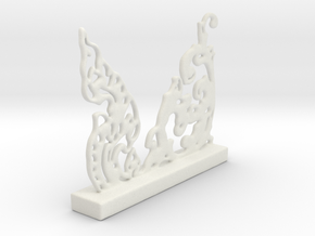 Freeform Oriental Pattern in White Natural Versatile Plastic
