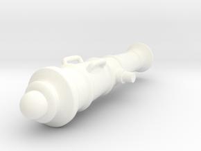Napoleonic Gun in White Processed Versatile Plastic