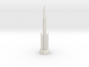 Ancient Lighthouse in White Natural Versatile Plastic