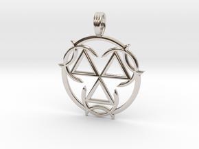SPEED STAR in Rhodium Plated Brass
