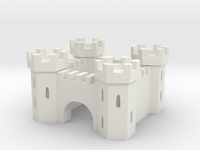 Castle in White Natural Versatile Plastic
