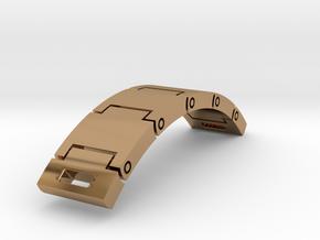 Articulated bracelet - bracelet articulé in Polished Brass (Interlocking Parts)