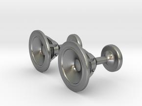 Speaker cufflinks in Natural Silver