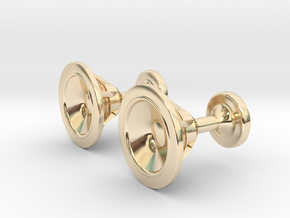 Speaker cufflinks in 14k Gold Plated Brass