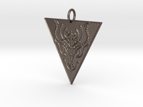Dragon Veve Pendant in Polished Bronzed Silver Steel