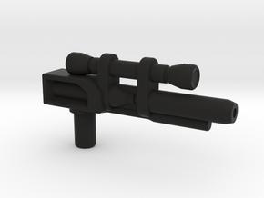 Dinobot Slash's Rifle  (PotP) in Black Natural Versatile Plastic: Large