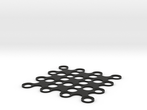 4x4 Pinball Pyramid Stand in Black Natural Versatile Plastic