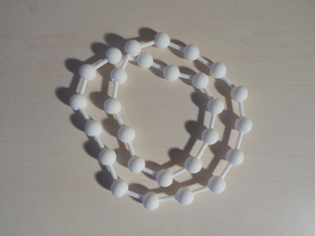 Ball jointed necklace (bead links)  in White Processed Versatile Plastic