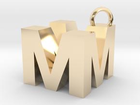 MM Monogram  [pendant] in 14K Yellow Gold