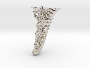 Knobby Starfish Leg Pendant in Platinum