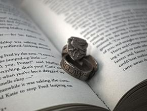Ravenclaw Ring Size 7 in Polished Bronzed Silver Steel