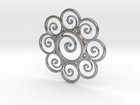 wisdompendant in Natural Silver