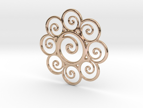 wisdompendant in 14k Rose Gold Plated Brass
