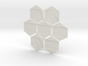 1/285th scale River set (7 pieces) in White Natural Versatile Plastic