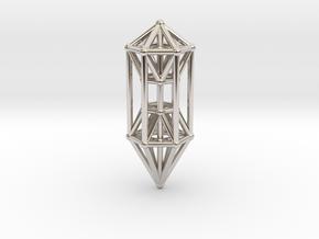 Phi Vogel Crystal Healingstick in Rhodium Plated Brass