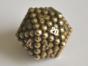 D20 Balanced - Balls in Polished Bronzed Silver Steel