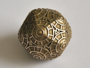 D20 Balanced - Shield in Polished Bronzed Silver Steel