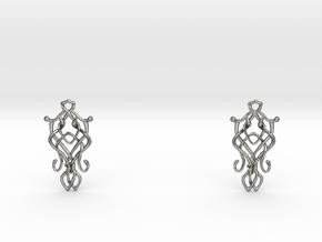 Art Nouveau Earrings in Polished Silver