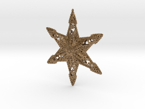 Snowflake A in Natural Brass