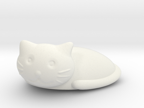 Cat 5 in White Natural Versatile Plastic: Small