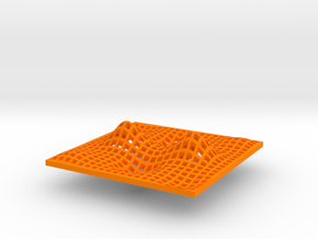 Min, Max, & Saddle Point in Orange Processed Versatile Plastic: Small
