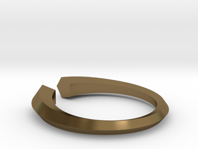 Open Pentagon Ring in Polished Bronze: 6 / 51.5