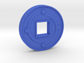 1 Coin in Blue Processed Versatile Plastic