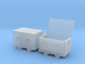 1/64 steel chest job box in Smooth Fine Detail Plastic