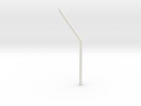 shkr004 - Teil 4 Dachstützbalken niedrig in White Natural Versatile Plastic