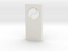 shkr024 - Teil 24 Seitenwand mit Fenster rund goti in White Natural Versatile Plastic