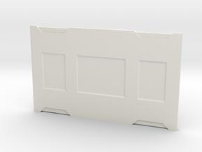 The Bomber in White Premium Versatile Plastic