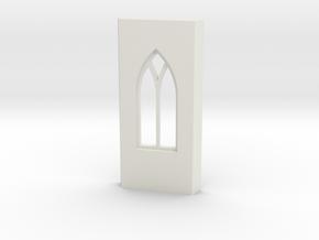 shkr029 - Teil 29 Seitenwand mit Fenster gotisch V in White Natural Versatile Plastic