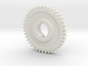 "40T Atlas/Craftsman 12"" lathe Change Gear in White Natural Versatile Plastic"