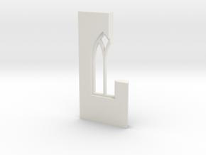 shkr040 - Teil 40 Seitenwand mit Fenster1-2 abgebr in White Natural Versatile Plastic