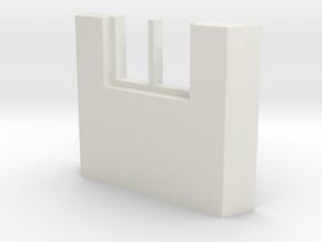 shkr045 - Teil 45 Seitenwand mit Fenster1-2 abgebr in White Natural Versatile Plastic